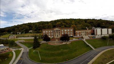 Conley Hall, aerial view 2019
